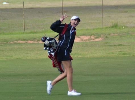 Teeing off into her senior year