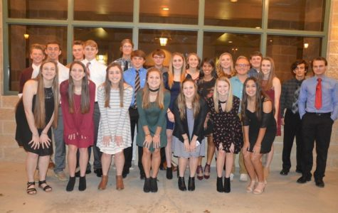 27 juniors walked the stage as they were inducted into the National Honor Society.
