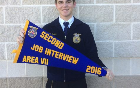 Senior Colton Snedecor places second  at Area competition and earned a trip to State on December 3 and 4.