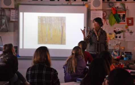 Fredericksburg Middle School teacher, Paige Conn, inspires students, including this column writer, to take additional art classes.
