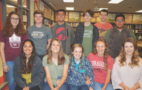 The following students will advance to regionals on April 7 and 8 in Corpus Christi. Jenna Najera, Claire Nevins, Sydney Holster, Caitie Huff, Delaney Whitworth Row 2: Gloria Burns, Landon Priess, Efrain Gonzales, Esten Cooke, Clayton Kelsey, Ricky Robles. Missing from photo: Carl Wilger