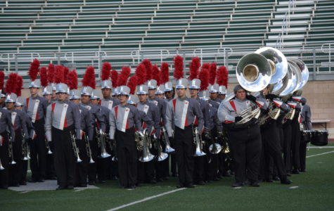 The Pride of the Texas Hill Country prepares to perform at the regional marching contest in San Antonio.