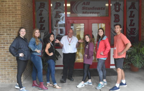 The elected NHS officers pose with sponsor Tom Musselman.