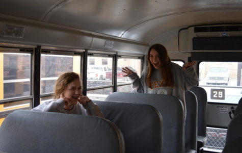 Yelling on the bus is commonly frowned upon by various passengers.