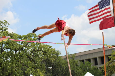 With grit and determination, Bryce Raders clears a personal best of 16 feet and 1 inch.  Raders won the 4A Boys Pole Vault title by more than a foot to cap off his senior year as a state champion.