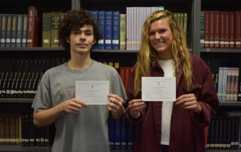 Pluenneke, Sanchez Named Commended Students in National Merit Scholars