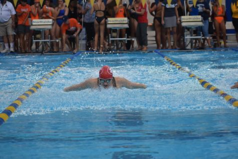 Mary Cornett was part of the Billie swim team who competed at the SAISD South Side Natatorium on Nov. 15. The team had several personal bests and placed first overall. Five of the swimmers with qualifying times went on to compete at TISCA on Nov. 30 and Dec. 1.