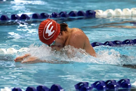 Graham Hammond placed second swimming the 50 Breast.
