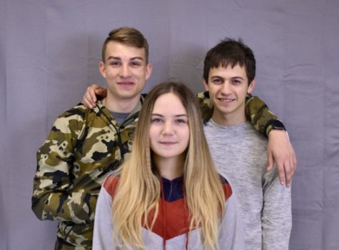 Adopted siblings Alex, Bogdan and Lyuba Bedford