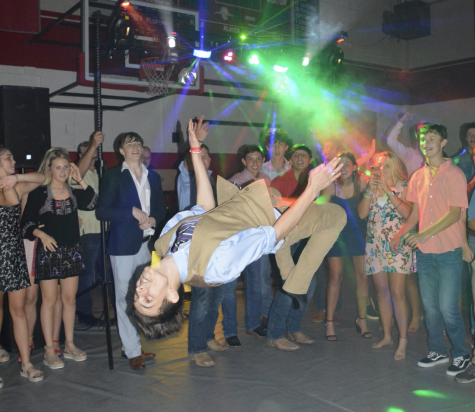 Judah Farmer nails a backflip at the 2019 HOCO dance.