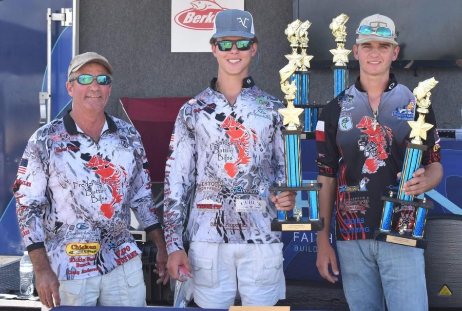 Kannon Danz and Austin Schneider won 3rd place at the Bass Fishing State Tournament.