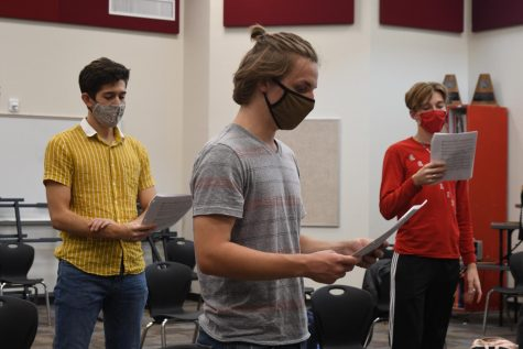 Will Cooke, William Vorauer, and Grant Pittman attend choir practice after school.