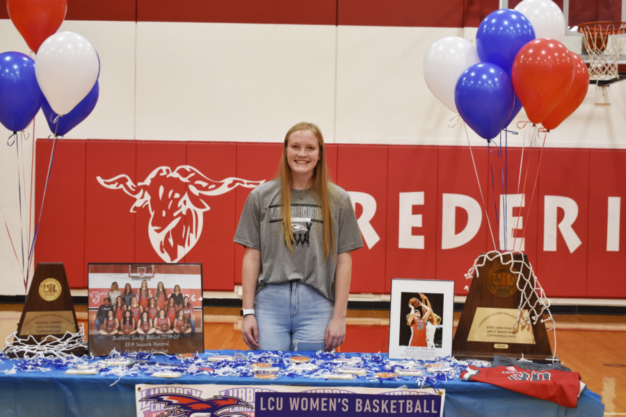 Congratulations to Senior basketball player Audrey Spurgin, who signed to play at Lubbock Christian University next year.