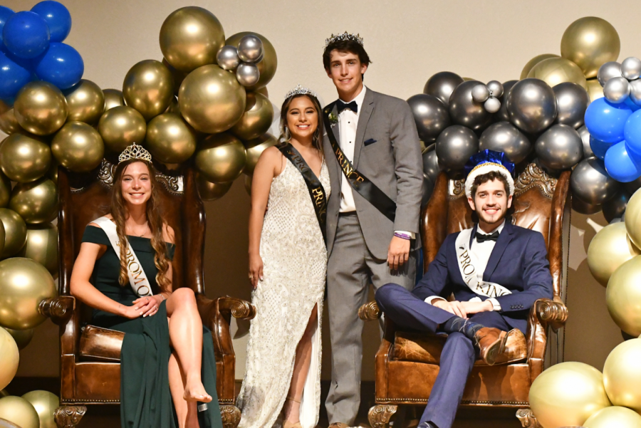 Congratulations to the FHS Prom Court. Queen Anna Gold, Princess Jenitzy Aguilar, Prince Cole Immel, and King Will Cooke.